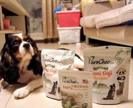 寵物零食| PureChee 有機諾麗果 |Gorgeous 最愛吃餅乾了