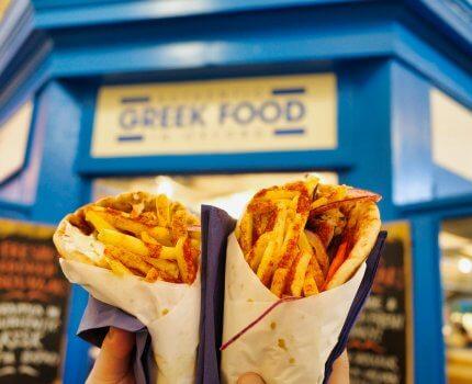 英國 牛津|市場美食|The Souvlaki Brother 道地希臘捲餅料理